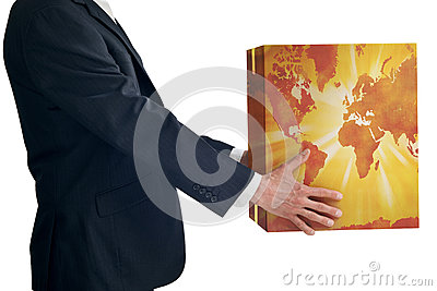 Business Global Strategy Box Map