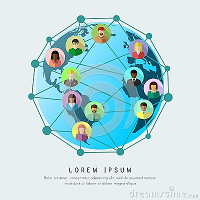 Free Business Globalization And Worldwide Networking Concept Royalty Free Stock Photography - 116473277