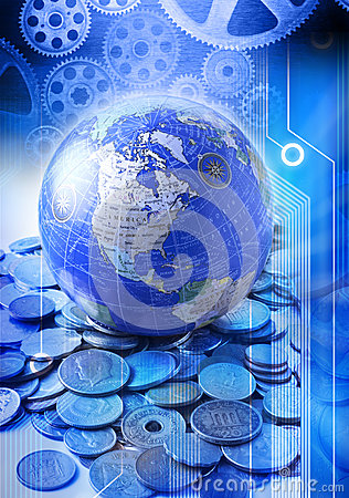 Free Business Globe Money Services Technology Stock Images - 33120714