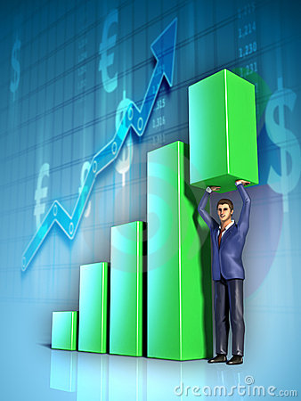 Free Business Graph Stock Photography - 18963942