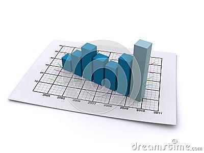 Business graph 3d