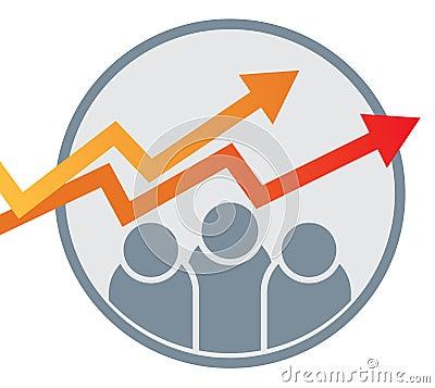 Free Business Graph Arrow Chart Logo Royalty Free Stock Photos - 117285158