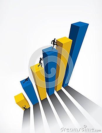 Business Graph bar 3D