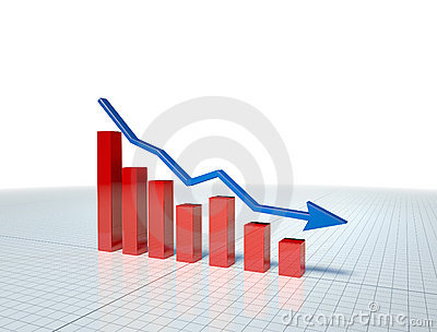 Business Graph with blue arrow