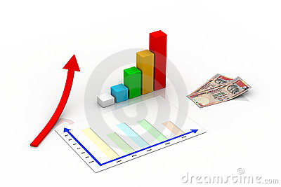 Business graph concept