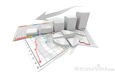 Business graph, diagram, chart, graphic