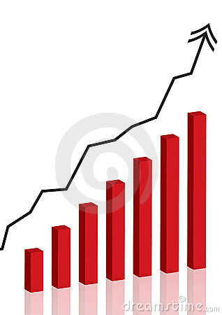 Business graph - vector