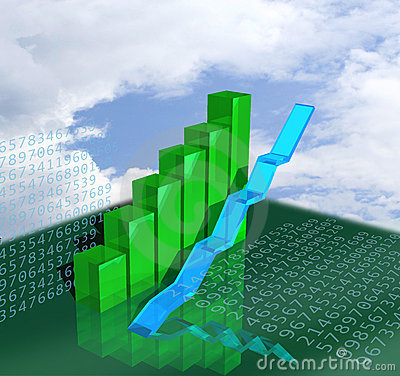 Business graphics showing growth