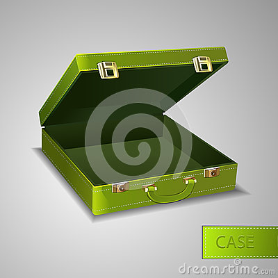 Business green briefcase