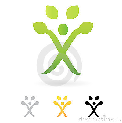 Business green Human Tree symbol.