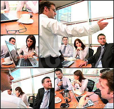 Free Business Group Brainstorming Collage Stock Photo - 4094760