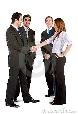 Business group handshake