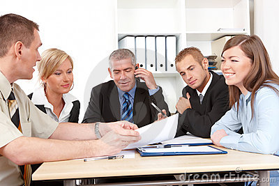 Business group at the meeting