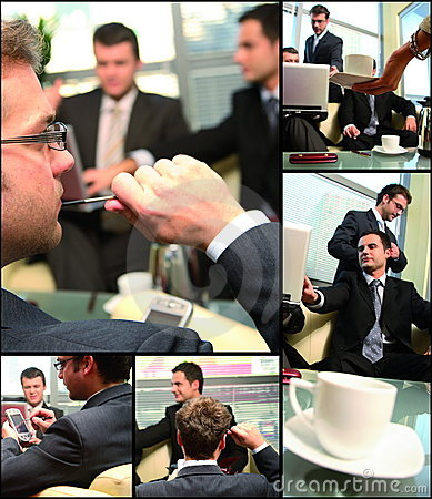 Free Business Group Networking Collage Royalty Free Stock Photo - 4094725