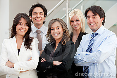 Business group at the office