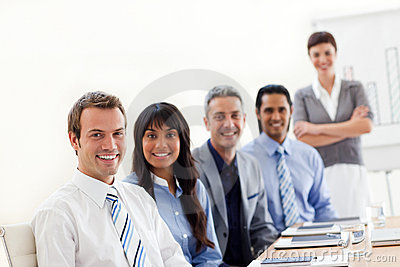 A business group showing ethnic diversity