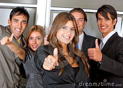 Business group - Thumbs up
