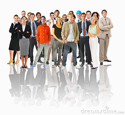 Free Business Groups And Different People In A Line Con Royalty Free Stock Photo - 5170695