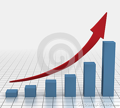 Free Business Growth Chart Royalty Free Stock Image - 25755196