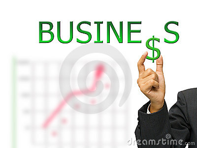 Business and hand