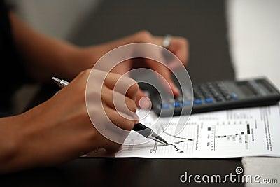 Business Hand Calculator Pen