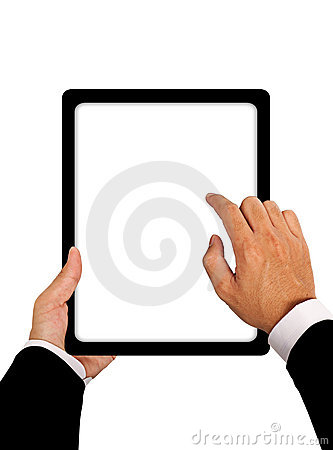 Business hands with Tablet connection