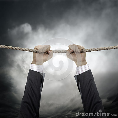 Business Hanging In Air Royalty Free Stock Image - Image: 27259916