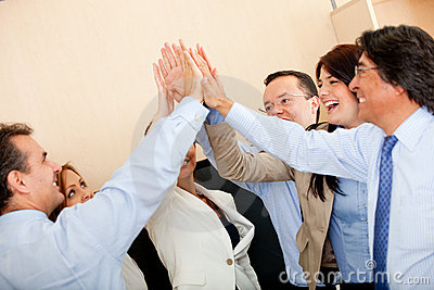 Business high-five
