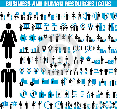Business and Human Resource icons