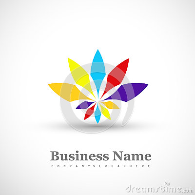 Free Business Icon Multicolor Colorful Floral Element W Royalty Free Stock Image - 33695696
