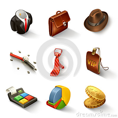 Free Business Icon Set Stock Image - 34918651