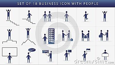 Business icon set of human communication.