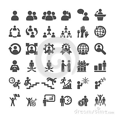 Free Business Icon Set, Vector Eps10 Royalty Free Stock Photo - 55729365