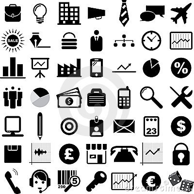Free Business Icons Royalty Free Stock Images - 23024819