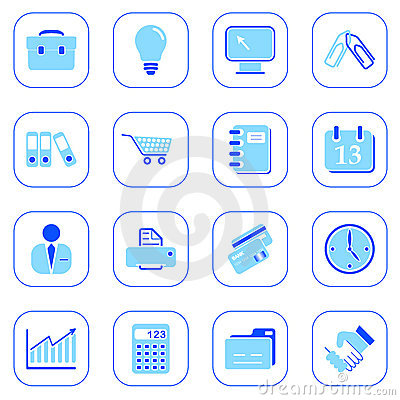Business icons - blue series