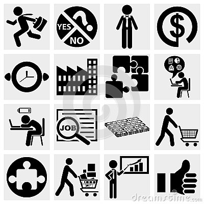 Business icons, human resource, finance, logistic