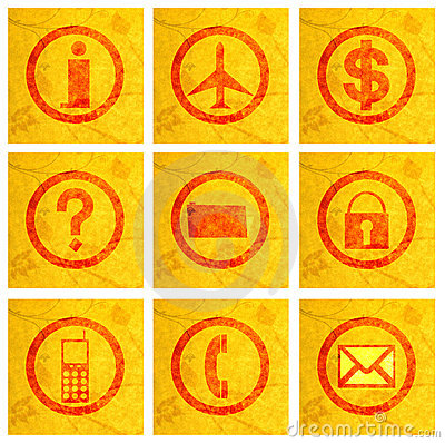 Free Business Icons On Texture Stock Images - 4235614