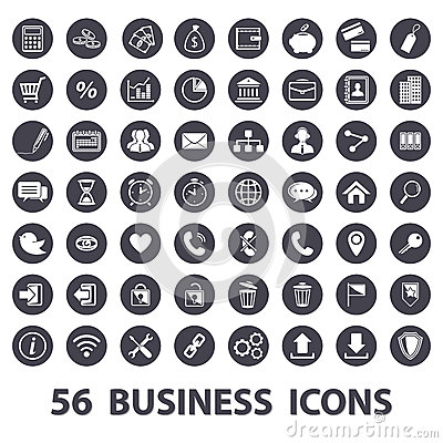 Free Business Icons Set Stock Photo - 43830700