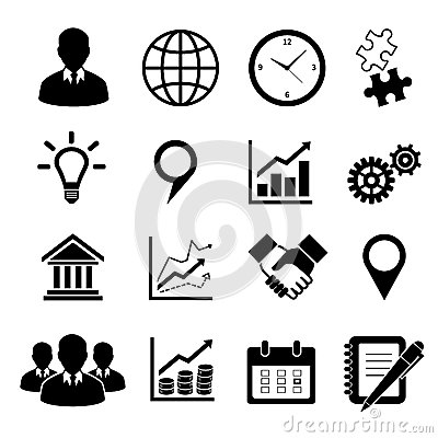 Business Icons Set For Infographics Stock Photos - Image: 38165073