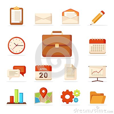 Business Icons Set - Vector - Vector Stock Photo