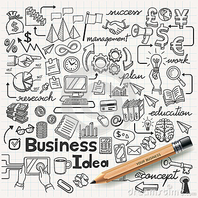 Free Business Idea Doodles Icons Set. Stock Photography - 38941402