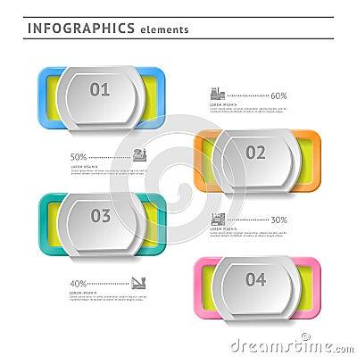 Business infographics elements. Modern design temp