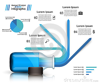 Business Infographics. Medicine bottles, Recipe icon. Vector Illustration