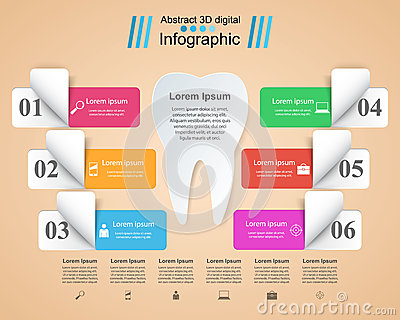 Business Infographics. Tooth icon. Vector Illustration