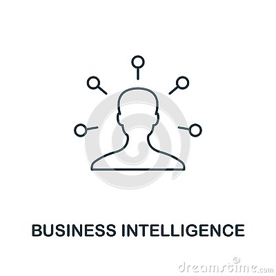 Free Business Intelligence Icon. Thin Line Style Industry 4.0 Icons Collection. UI And UX. Pixel Perfect Business Stock Photo - 139300740