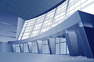 Business interior vector door