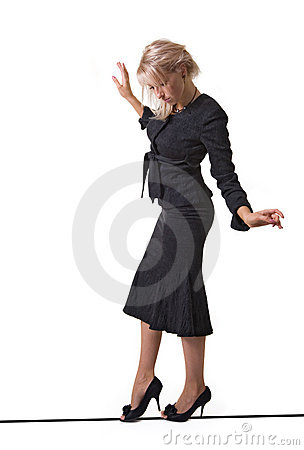 Free Business Lady On-line Royalty Free Stock Photos - 2415498