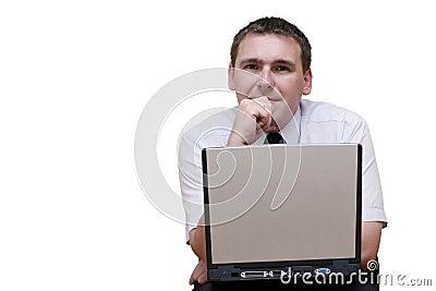 Business laptop man