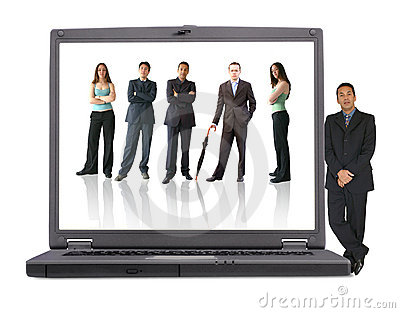 Business laptop - online team