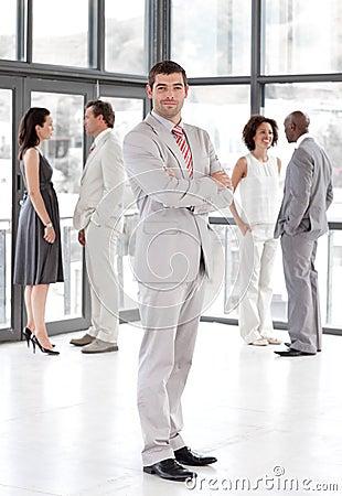 Business leader showing leadership